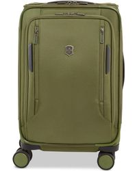 """Victorinox - Closeout! Vx Avenue 22"""" Frequent Flyer Softside Expandable Carry-on Suitcase In Olive - Lyst"""