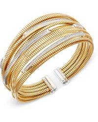 Macy's | Diamond Cuff Bracelet (1/2 Ct. T.w.) In 14k Gold-plated Sterling Silver | Lyst