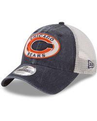 28dadb756a5 Lyst - Ktz Chicago Bears Visor Stripe 59fifty Cap in Blue for Men
