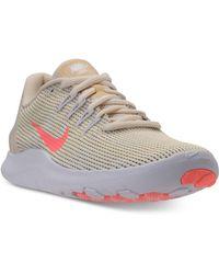 Lyst - Nike Women s Flex 2017 Run Running Sneakers From Finish Line ... 5ef775d6a