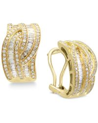 Effy Collection - Diamond Interwoven Hoop Earrings (1-3/8 Ct. T.w.) In 14k Gold & White Gold - Lyst