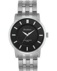 Armitron - Men's Stainless Steel Bracelet Watch 42mm 20-4962bksv - Lyst