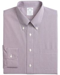Brooks Brothers - Regent Fitted Non-iron Small Check Dress Shirt - Lyst