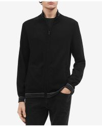 Calvin Klein - Tipped Cardigan Sweater - Lyst