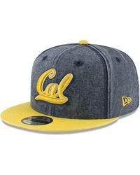 278f5e9e6 KTZ - California Golden Bears Rugged Canvas Snapback Cap - Lyst