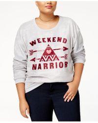 Hybrid - Trendy Plus Size Weekend Warrior Graphic-print Sweatshirt - Lyst