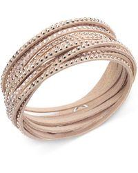 Swarovski - Bracelet, Gray Fabric Crystal Wrap Bracelet - Lyst