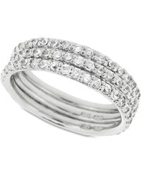 Giani Bernini - Sterling Silver Ring Set, Cubic Zirconia Stackable Ring Set (2-1/5 Ct. T.w.) - Lyst