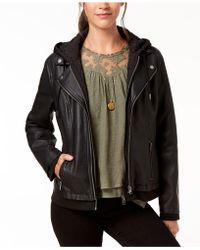 Style & Co. - Hooded Faux-leather Jacket, Created For Macy's - Lyst