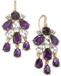 Charter Club - Gold-tone Crystal & Stone Statement Earrings, Created For Macy's - Lyst
