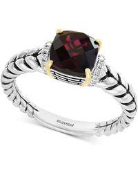 Effy Collection - Effy® Rhodolite Garnet (1-9/10 Ct. T.w.) & Diamond Accent Statement Ring In Sterling Silver & 18k Gold - Lyst