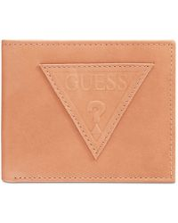 Guess - Ponoma Leather Passcase - Lyst