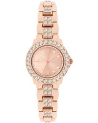 INC International Concepts - Women's Crystal Accent Bracelet Watch 26mm In003rg - Lyst