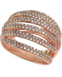 Effy Collection - Pave Rose By Effy Diamond Dome Crossover Ring (1 Ct. T.w.) In 14k Rose Gold - Lyst