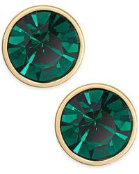 Kate Spade - Gold-tone Crystal Stud Earrings - Lyst