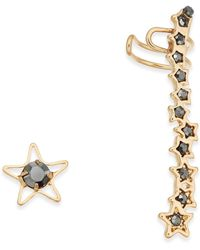 INC International Concepts - Gold-tone Stone Stud And Climber Mismatch Earrings - Lyst