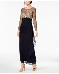 b9694561c20 Xscape - Embellished Ruched Gown - Lyst