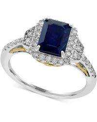 Effy Collection - Sapphire (1-1/2 Ct. T.w.) And Diamond (3/8 Ct. T.w.) Ring In 14k Gold And White Gold - Lyst