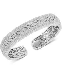 f2da251c54a48 Diamond Engraved Bangle Bracelet (1/2 Ct. T.w.) In Sterling Silver