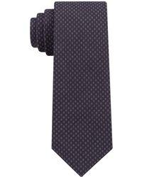 Michael Kors - Contrast Tail Geometric Slim Tie - Lyst