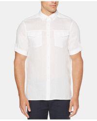 Perry Ellis - Slim-fit Linen Shirt - Lyst