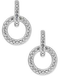 Danori - Silver-tone Pavé Open Link Drop Earrings - Lyst