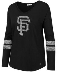 47 Brand - San Francisco Giants Court Side Long Sleeve T-shirt - Lyst