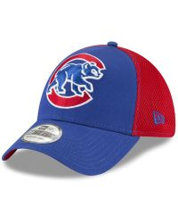 low priced c8f2b 2d6a3 KTZ Chicago Cubs Coop 39thirty Cap in Blue for Men - Lyst