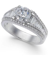 Macy's - Diamond Baguette Engagement Ring (1-2/3 Ct. T.w.) In 14k White Gold - Lyst