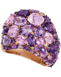 Le Vian - ® Strawberry & Nudetm Amethyst (8-1/2 Ct. T.w.) & Diamond (1/8 Ct. T.w.) Statement Ring In 14k Rose Gold - Lyst