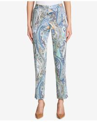 Tommy Hilfiger - Paisley-print Ankle Pants - Lyst