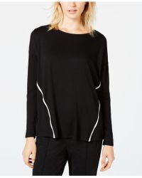 Eileen Fisher - Tm Side-stripe Long-sleeve Top, Created For Macy's - Lyst