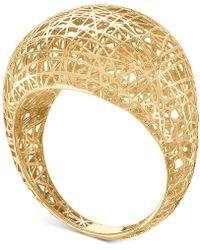 Macy's - Mesh Openwork Statement Ring In 10k Gold - Lyst
