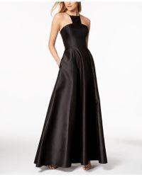 Adrianna Papell - Mikado Satin Modern Gown - Lyst
