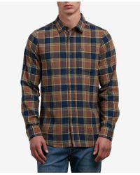 Volcom - Yarn Dyed Flannel Shirt - Lyst