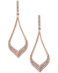 Effy Collection - Diamond Drop Earrings (1/3 Ct. T.w.) In 14k Rose Gold - Lyst