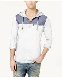 INC International Concepts - Men's Quarter-zip Hoodie - Lyst
