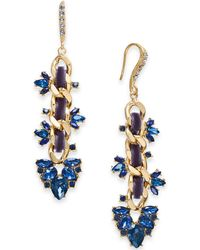 INC International Concepts - I.n.c. Gold-tone Stone & Crystal Link Drop Earrings, Created For Macy's - Lyst