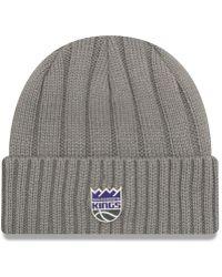 ea9f3ce9411 Lyst - KTZ Sacramento Kings Court Force Pom Knit Hat in Gray for Men
