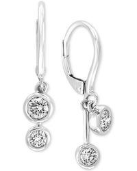 Effy Collection - Effy® Diamond Bezel Drop Earrings (1/2 Ct. T.w.) In 14k White Gold - Lyst