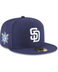 pretty nice dc9d5 1cb48 KTZ San Diego Padres Coop All Day 59fifty-fitted Cap in Blue for Men - Lyst