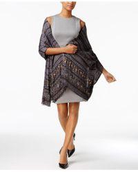 INC International Concepts | Embellished Southwest Jacquard Wrap | Lyst