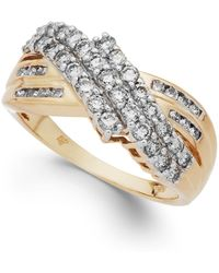 Macy's - Diamond Three-row Ring In 14k Gold (1 Ct. T.w.) - Lyst
