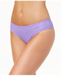 Volcom - Juniors' Simply Solid Cheeky Bikini Bottoms - Lyst