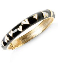 Betsey Johnson - Heart Bangle Bracelet - Lyst