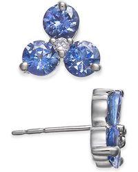 Macy's - Tanzanite (1-1/2 Ct. T.w.) & Diamond Accent Earrings In 14k White Gold - Lyst