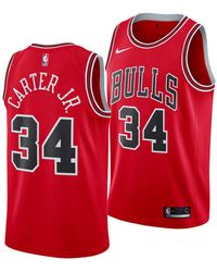 c1d5cca929a Nike Wendell Carter Icon Edition Swingman (chicago Bulls) Nba Connected  Jersey in Red for Men - Save 24% - Lyst