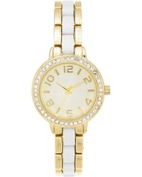 Charter Club - White Ceramic & Gold-tone Bracelet Watch 33mm, Created For Macy's - Lyst