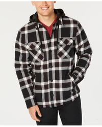 American Rag - Grand Plaid Hooded Shirt Jacket, Created For Macy's - Lyst