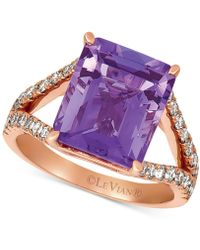 Le Vian - ® Amethyst (5-1/2 Ct. T.w.) & Nudetm Diamond (5/8 Ct. T.w.) Ring In 14k Rose Gold - Lyst